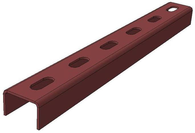 Планка подвесная на две шпильки ПЛ2