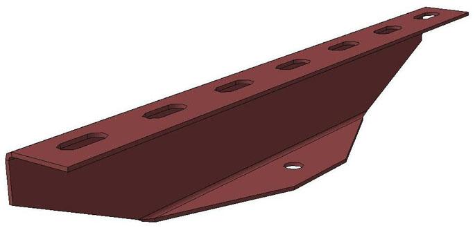 Планка подвесная на одну шпильку ПЛ3