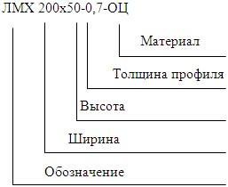 Пример обозначения при заказе