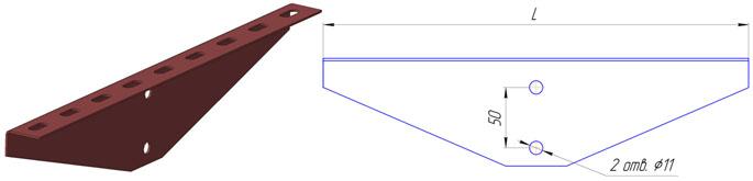 Планка подвесная ПЛ1